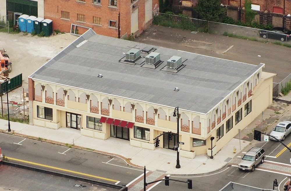 Rebuilt commercial building