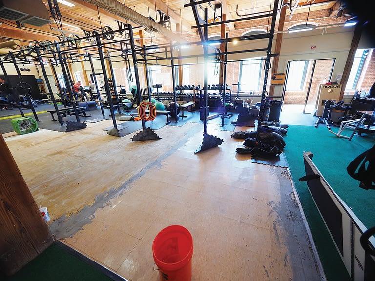 Broken Pipe in commercial gym
