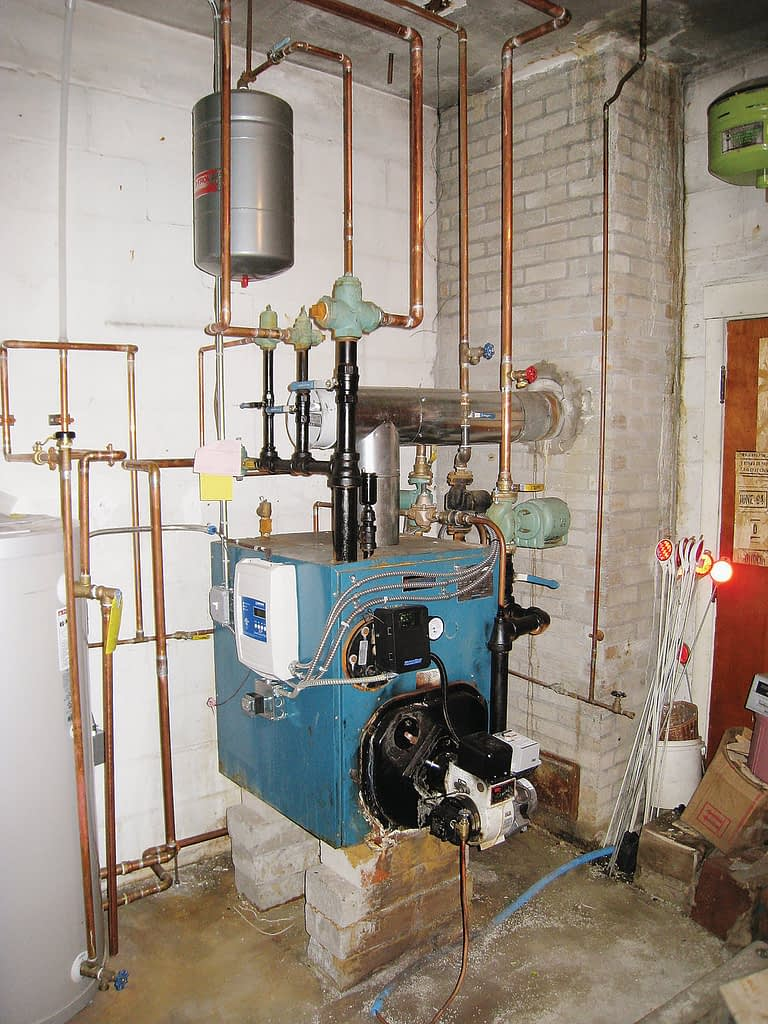 Residential boiler replaced