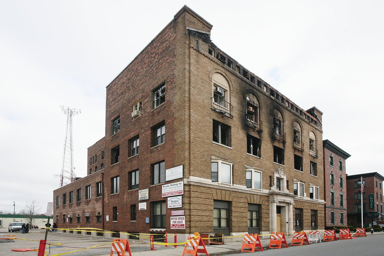 Dental office fire