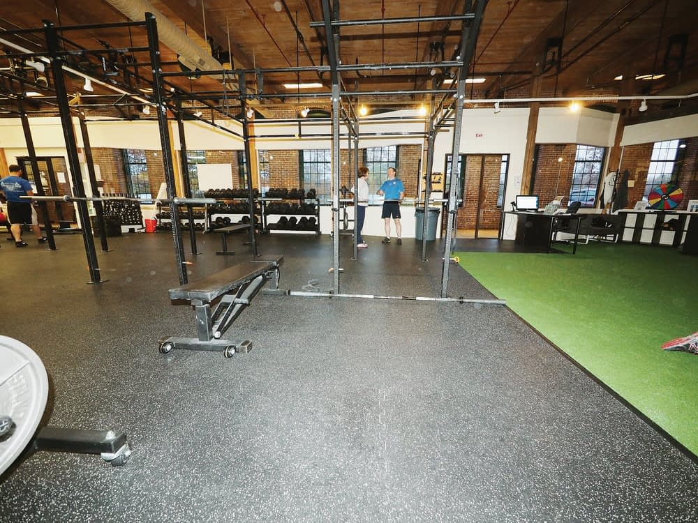 Repaired commercial gym